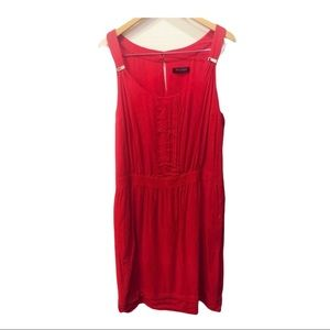 White House Black Market red midi dress